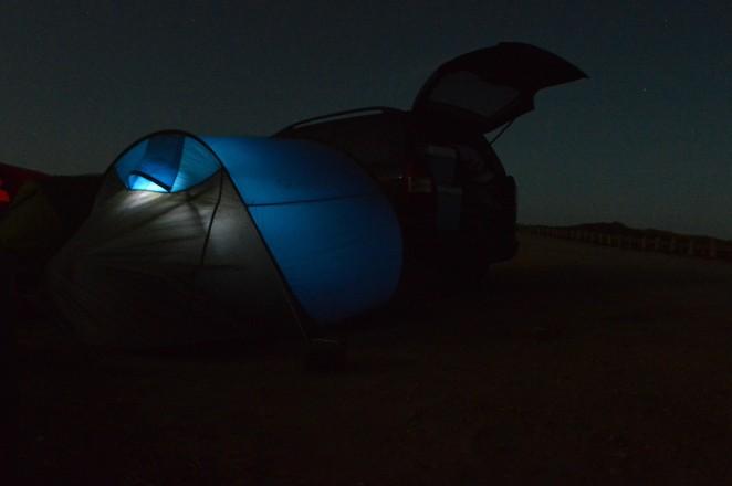 Acampada libre en playa de Bordeira, (Algarve)